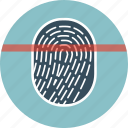 finger, fingerprint, scan, scanner, security icon