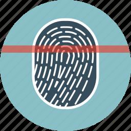 finger, fingerprint, scan, scanner, security icon