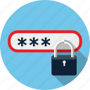 id, lock, pass, password, security icon