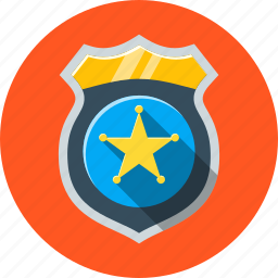 badge, guard, law, officer, police, security icon