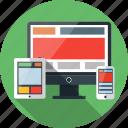 computer, design, phone, responsive, tablet, web icon