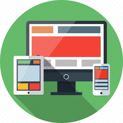 computer, design, phone, responsive, tablet, web icon