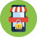 ecommerce, mobile, phone, secure, security, shop, shopping icon