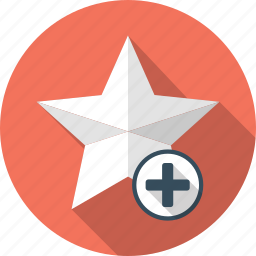 achievement, add, favorite, plus, star icon