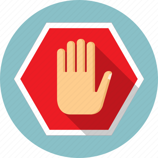 control, hand, restriction, secure, security, sign, stop icon