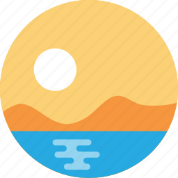 sun, sunrise, sunset, travel, weather icon