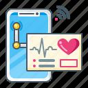 ecg, heartbeat, cardiogram, medical, telemedicine, smartphone icon