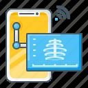 xray, radiology, bone, health, healthcare, telemedicine, smartphone icon