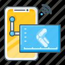 xray, joints, radiology, ray, skeleton, telemedicine, smartphone icon
