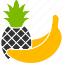 banana, bananas, food, fruits, healthy, pineapple, tropical icon