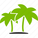 beach, coconut, island, palms, travel, tropics, vacation icon