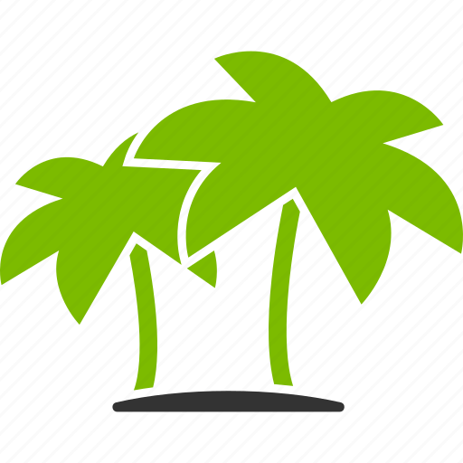 beach, coconut, island, palms, travel, tropics, vacation icon
