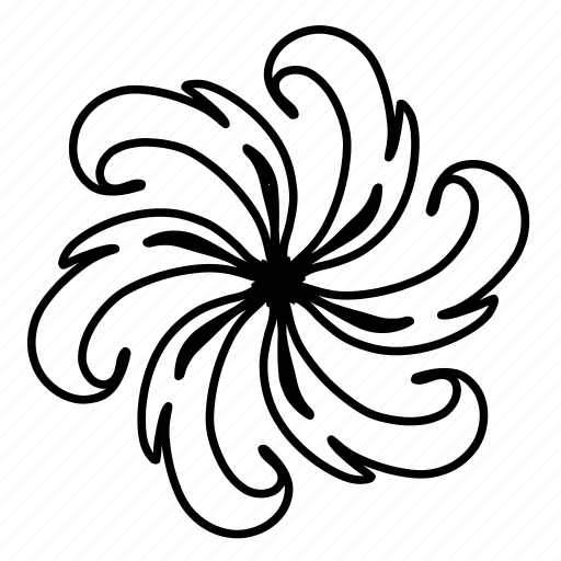 abstract, design, floral, flower, flowers, ornaments, swirls icon