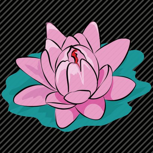 flower, lotus, lotus flower, pond, summer, water, waterlily icon