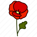 plant, ecology, garden, environment, flower, poppy, bloom icon