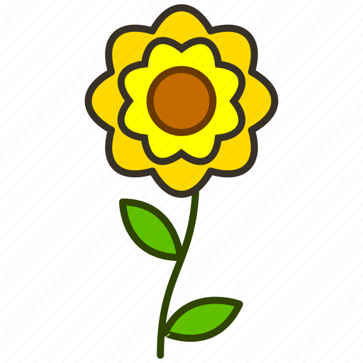 eco, environment, flower, flowers, garden, plant, zinnia icon