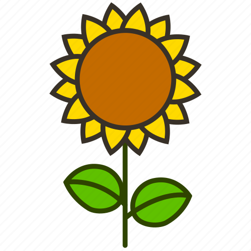 environment, flower, garden, nature, plant, sunflower icon