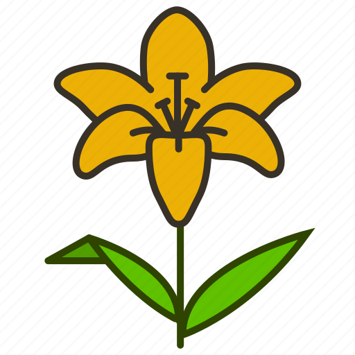decoration, environment, flower, flowers, garden, lily, plant icon