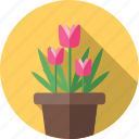 flower, flowers, garden, plant, tulips icon