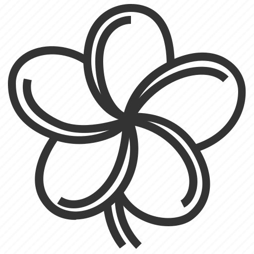 floral, flower, frangipani, plant icon