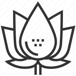 bloom, floral, flower, lotus, plant icon
