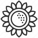 blossom, floral, flower, spring, sunflower icon