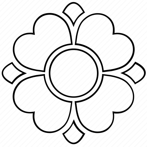 abstract, bloom, floral, flower, nature, shape icon