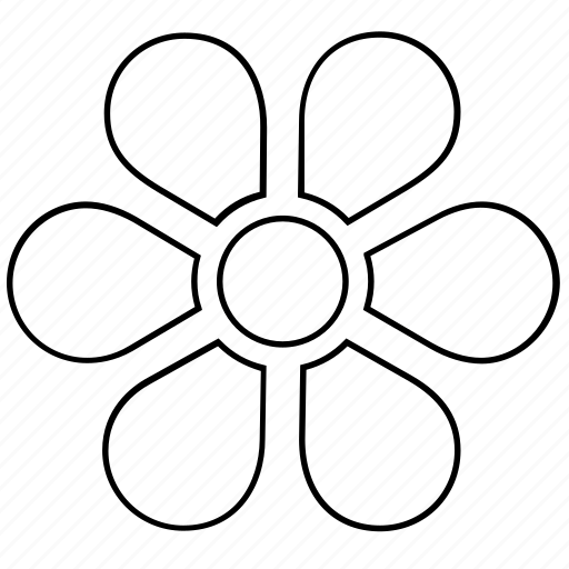 abstract, bloom, flower, garden, nature, shape icon