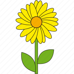 beauty, flower, nature, summer, yellow icon