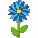 blue, flower, flowers, lightblue, nature, summer icon