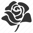 bloom, floral, flower, plant, rose, valentine, valentine's day icon