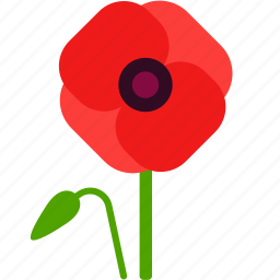 field, floral, florist, flower, poppy, remembrance icon