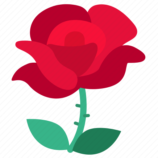 flora, floral, flower, love, red, rose, valentine icon