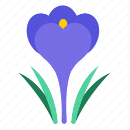 blossom, croci, crocus, floral, flower, flowering plants, wildflower icon