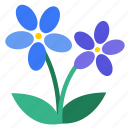 blooming, blossom, botany, flowers, wildflower, floral, flower icon