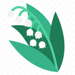 flower, flowers, garden, lily of the valley, plant, scented, wildflower icon
