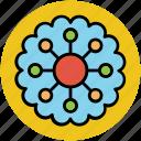 created flower, creative, dotted leafs, flower, round flower icon