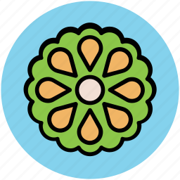 creative flower, decorative flower, flower, flower shape icon