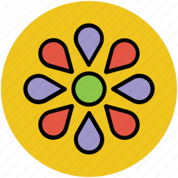decorative flower creative flower, flower, flower shape icon