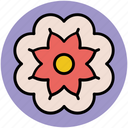decorative flower creative flower, flower, flower shape icon