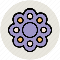 created flower, creative, flower, nature, round flower icon