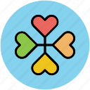 art, beauty, creative flower, flower, heart petals, heart shape icon