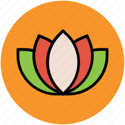 flower, lotus, lotus lily, lotus lily flower, natural icon