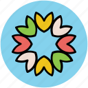 bachelors button, cornflower, flower, wild flower icon