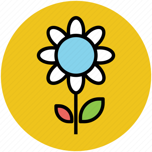 flower, flower on stem, gerbera, gerbera daisy, gerbera flower, zinnia icon
