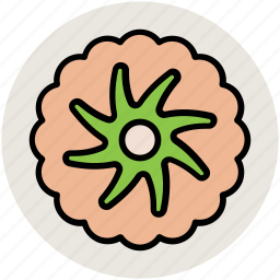 creative, creative flower, flower, pretty, swirl shape icon