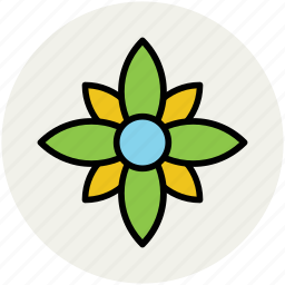 flower, great chickweed, spring wild flower, wild flower icon