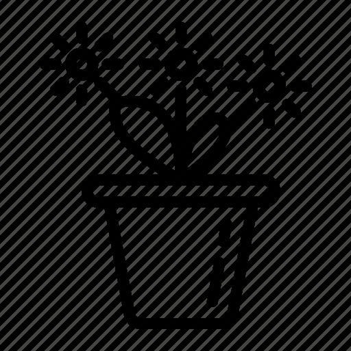 flowers, plants, pot, sun flower, vase icon