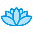 flower, lotus, nature, spa, wellness icon
