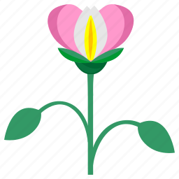 bud, flower, flowers, garden, green, leaves, plant icon